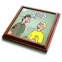 KNOTS cartoon - Scout confession and the chaplain aide Trivet