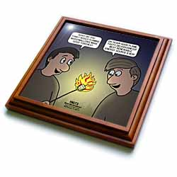 Knots Cartoon - Burnt Marshmallow smores - yum Trivet