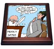 Heaven - St. Peter and the Golf Divot Replacement Sin of Omission Trivet