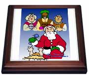 Larry Miller - Tribute to the Baby Jesus by the 3 Wisemen and Santa Trivet