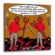 Devilish Questions  Wall Clock