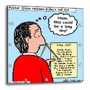 Difficult Pastor Call List Wall Clock