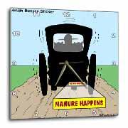 Manure Happens Wall Clock