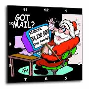 Ira Monroe about Santas E-Mail for Christmas Wall Clock