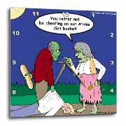 Halloween - Zombie on Atkins Diet Wall Clock