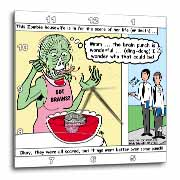 Halloween - Zombie Punch and the Religious Visitors Wall Clock
