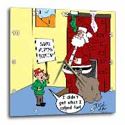 Dale Hunt - Santa Contributes to the Bad Economy Wall Clock