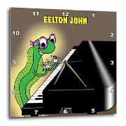 Eelton John the piano player Wall Clock