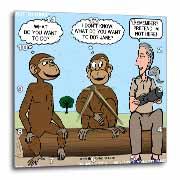 Dr. Jane Goodalls 50th anniversary at GDI - monkey business Wall Clock