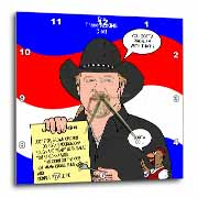 The Trace Adkins Diets Wall Clock