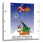 Larry Miller - Santa Takes Advantage of His Diving Lessons Wall Clock