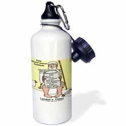 Early Bathroom Reading  Water Bottle