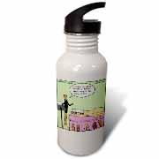 Broom Funerals  Water Bottle