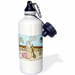 Not Much Glamour In Running Noah s Ark  Water Bottle