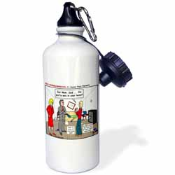 Ten Commandments 5 Honor Your Parents Water Bottle