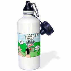 Adam and Eve - Lock-out at the Garden of Eden Water Bottle