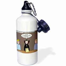 Dracula on the Church Outreach Committee Water Bottle