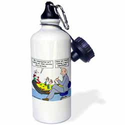 Pastor Problems with Clown Ministry Water Bottle