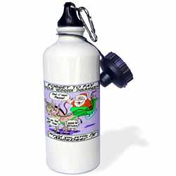 Ira Monroe - Santa and Mule Deer Water Bottle