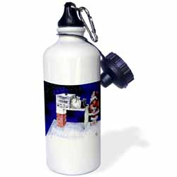 VAL - Santa Security Checkpoint Water Bottle