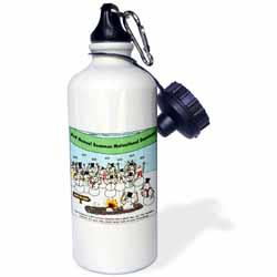 Snowman Motivational Seminar Water Bottle