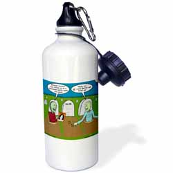 Halloween - Zombies are Invited to Michael Jacksons Party Water Bottle