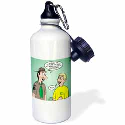 KNOTS cartoon - Scout confession and the chaplain aide Water Bottle