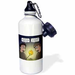 Knots Cartoon - Burnt Marshmallow smores - yum Water Bottle