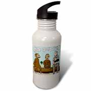 Dr. Jane Goodalls 50th anniversary at GDI - monkey business Water Bottle