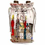 Ten Commandments 5 Honor Your Parents Wine Bag