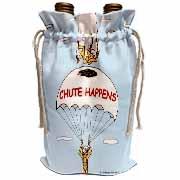 Chute Happens Wine Bag