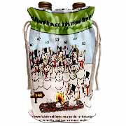 Snowman Motivational Seminar Wine Bag