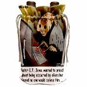 Religious Light Cartoon - Pastor ET Jones Alien Abduction Wine Bag