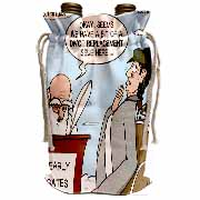 Heaven - St. Peter and the Golf Divot Replacement Sin of Omission Wine Bag