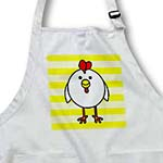click on Cute White Chicken with Yellow Background to enlarge!