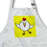 click on Cute White Chicken Dance with Yellow Background to enlarge!