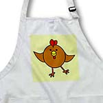 click on Cute Brown Chicken Dance with Green Background to enlarge!