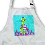 click on Cute Green Seahorse and Pink Seaweed to enlarge!