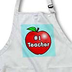 click on Number One Teacher Red Apple Design to enlarge!