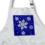 click on This artwork features some pretty swirling snowflakes on a lovely blue background to enlarge!