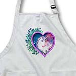 click on A sweet unicorn forever held within a floral heart of love to enlarge!