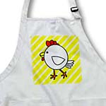 click on Chicken Dance White with Yellow Stripes to enlarge!