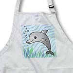 click on Cute Grey Dolphin Blue Ocean to enlarge!