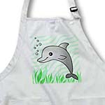 click on Cute Grey Dolphin Green Ocean to enlarge!