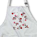 click on RAB Rockabilly Deep Red and Pink Cherries on white to enlarge!