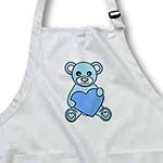 click on Valentines Day Cute Blue Teddy Bear Holding Heart to enlarge!