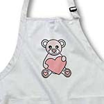 click on Valentines Day Cute Pink Teddy Bear Holding Heart to enlarge!