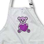 click on Valentines Day Cute Purple Teddy Bear Holding Heart to enlarge!