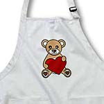 click on Valentines Day Cute Brown Teddy Bear Holding Heart to enlarge!