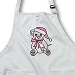 click on Christmas Cute Pink Teddy Bear with Santa hat to enlarge!